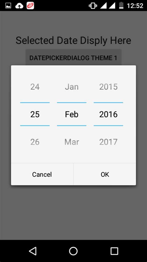 changing themes on android change datepickerdialog theme in android using