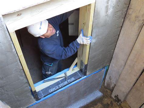installing egress windows am shield waterproofing ny