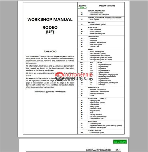 service manuals schematics 2006 isuzu i 350 parking system isuzu service manual us version auto repair manual forum heavy equipment forums download