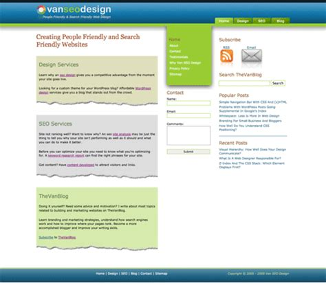 how to design an effective home page vanseo design