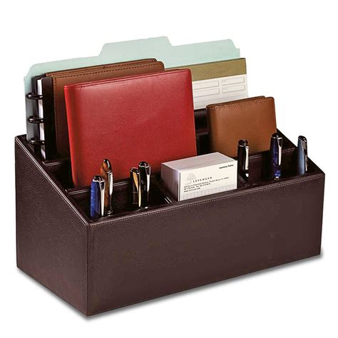 Organizer For Desk Bomber Jacket Desk Set Three Pieces Leather Desk Accessories Desk Organizers Levenger