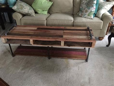 diy industrial coffee table legs diy industrial pipe and pallet coffee table 101 pallets
