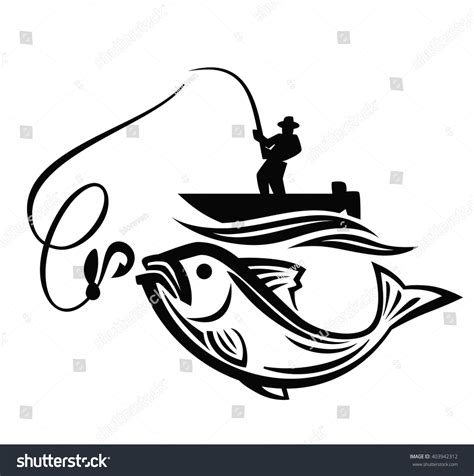 boat icon black and white vector black fisherman icon on white stock vector