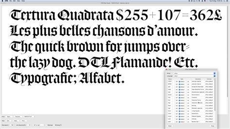 opentype layout features dtl flamande checking opentype layout features youtube