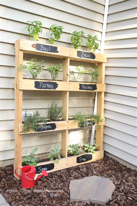 herb planter diy pallet herb garden diy the pink lemonade blog home and