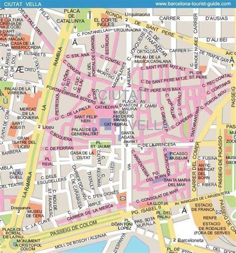 printable map barcelona city centre barcelona street map ciutat vella