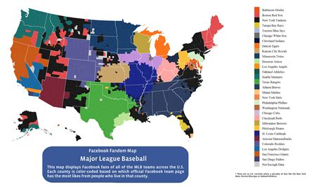 mlb map here is every u s county s favorite baseball team according to the atlantic