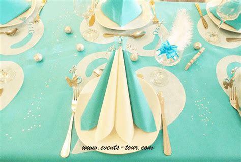 Decoration De Table Bleu Turquoise by Decoration Mariage Bleu Turquoise Et Or