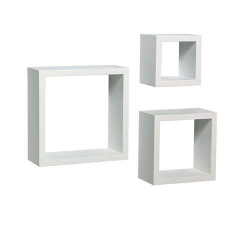 On Shelf In A Box by Knape Vogt 9 In W X 4 In D Wall Mounted White Shadow