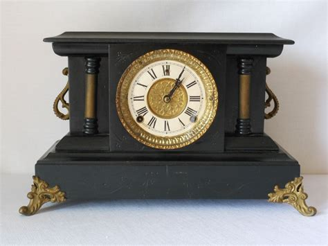 Antique L by Antique Mantle Clock By Wm L Gilbert Co By 2cool2toss On