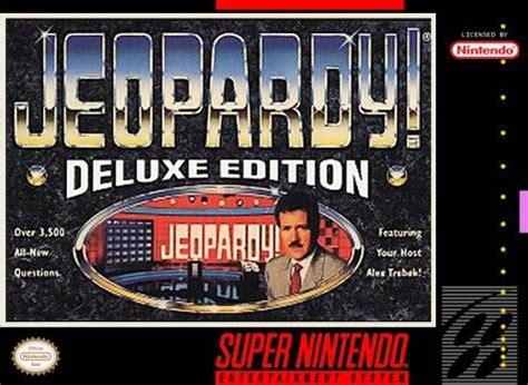 jeopardy deluxe edition snes nintendo