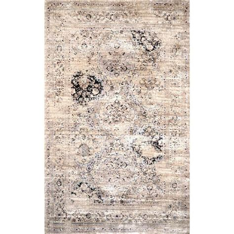 home depot area rugs 10 x 12 nuloom panel ivory 9 ft 6 in x 12 ft 10 in area rug cfvi06a 9601210 the home depot