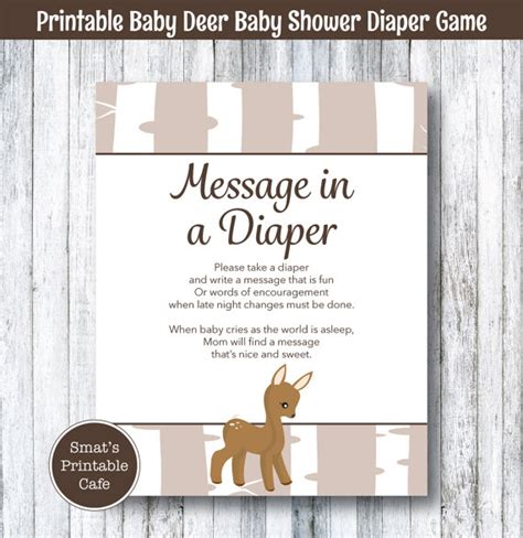 Deer Themed Baby Shower by Items Similar To Baby Deer Baby Shower Message