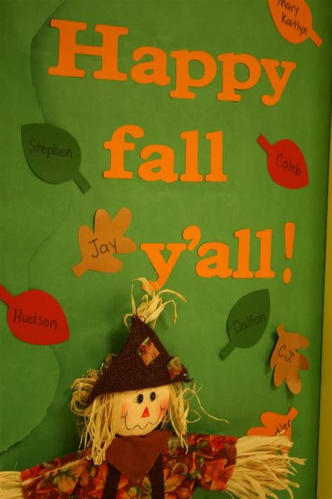 fall door decorations for preschool fall door happy and fall on