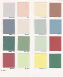 color chip vintage goodness 1 0 vintage decorating 1950 s paint