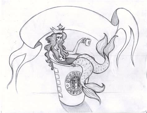 starbucks siren concept sketch by tursiart on deviantart