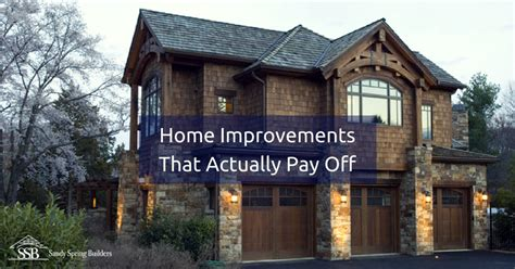 top 5 home improvements that really pay