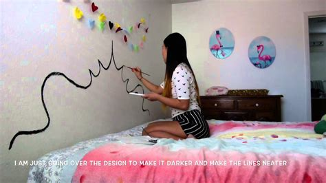 painted headboards on the wall diy paint a headboard on your wall youtube