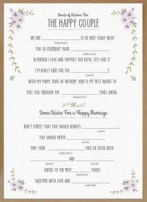 Wedding Mad Libs Template by Top 10 Free Wedding Printables Part Ii Simply Peachy