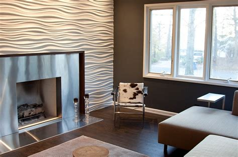 modern wallpaper accent wall interior design trends for 2014