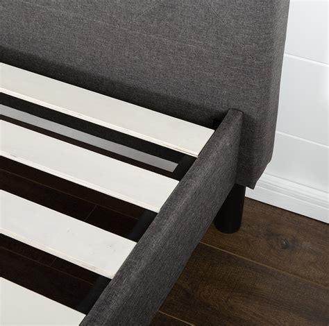 bed support slats diamond stitched platform bed with wooden slat support