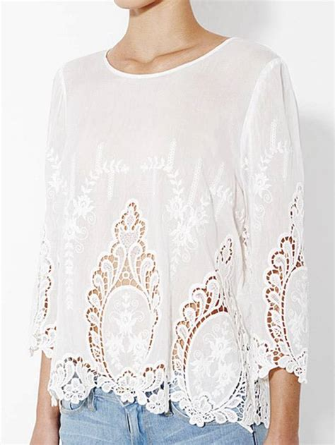 100 Floors Level 23 Lösung by Cynthia Rowley White 100 Cotton Vita Dolce Embroidered