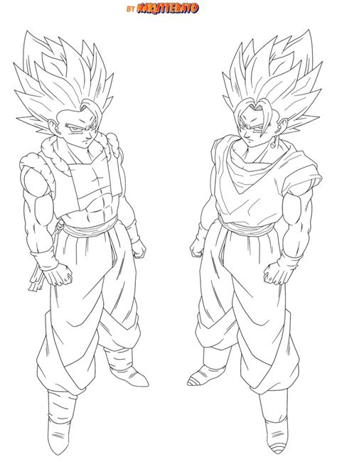 vegito ssj4 coloring pages coloring pages