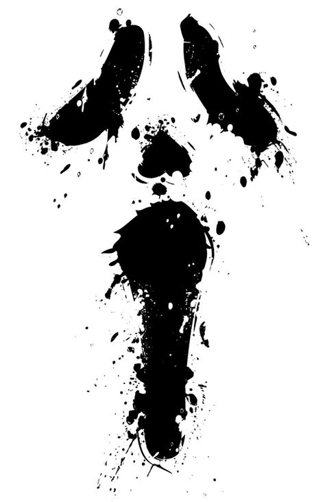 scream ghost face minimal by 4gottenlore on deviantart