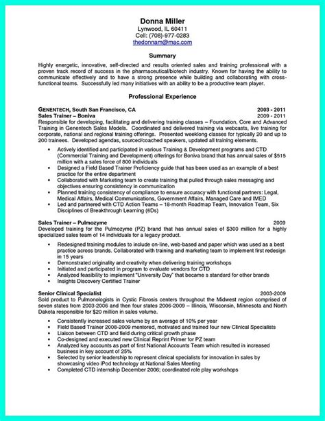 resume of corporate trainer 28 images executive