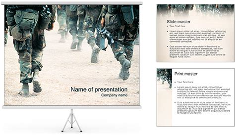 army powerpoint template backgrounds id 0000000748