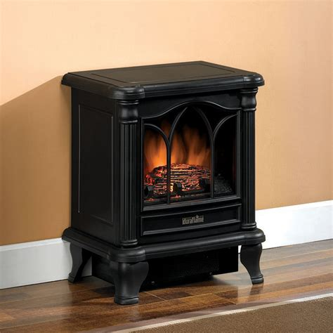 Electric Fireplace Heaters Duraflame 450 Black Electric Fireplace Stove Dfs 450 2