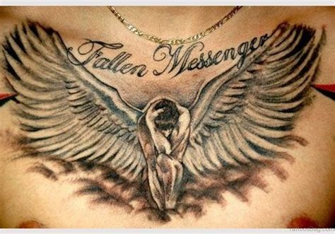fallen angel tattoo design 86 graceful tattoos for chest