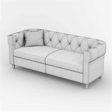 Chester Tufted Upholstered Sofa 3d Model Max Obj Fbx Tufted Upholstered Sofa