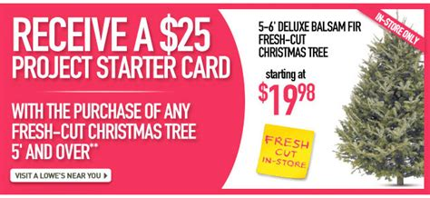 lowes canada 25 off 100 savings card with christmas