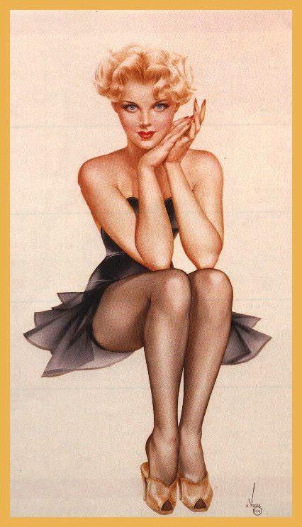 imagenes vintage mujeres dibujos pin up vintage taringa