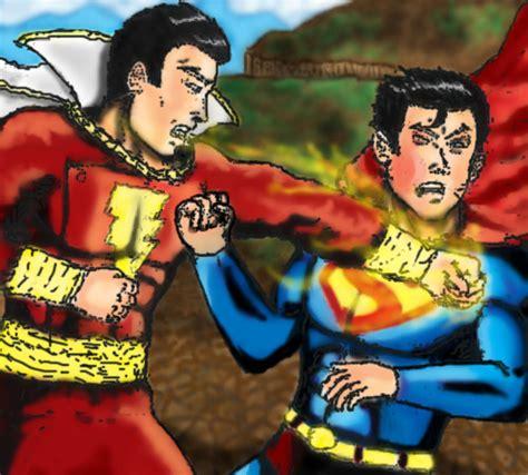 superman vs captain marvel shazam captain marvel vs superman by rocatl on deviantart