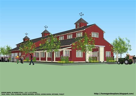 horse barn blueprints home garden plans b20h large horse barn for 20 horse stall 20 stall horse barn plans