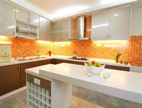 orange kitchen design orange kitchen decor decosee com