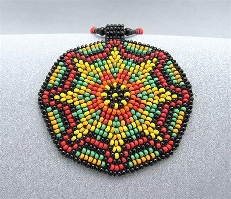 beaded sun seed bead mandala necklace beaded sun mandala jewelry