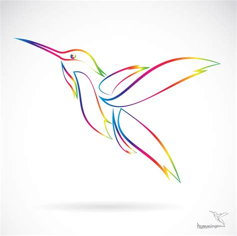 free design abstract hummingbird vector vector abstract vector animal free
