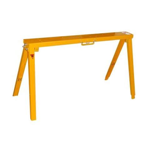Null Steel Sawhorse Brackets Home 34 In Adjustable Folding Sawhorse Sh3801 The Home Depot