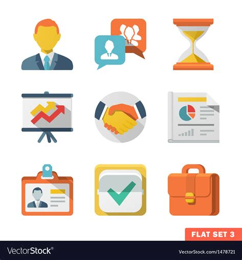 Business Vector Royalty Free Stock Images Image 1449729 Business Flat Icon Set Royalty Free Vector Image