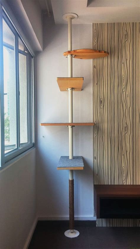 modern cat tree ikea diy cat tree with ikea stolmen pole pinteres