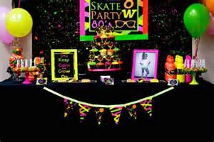 kara s party ideas neon 80 s skate themed birthday party