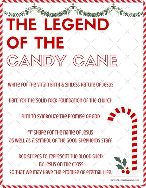 printable christmas fun facts the legend of the candy cane free printable and a