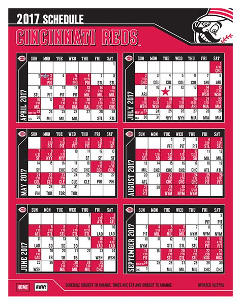 printable daily mlb schedule printable schedules reds com schedule