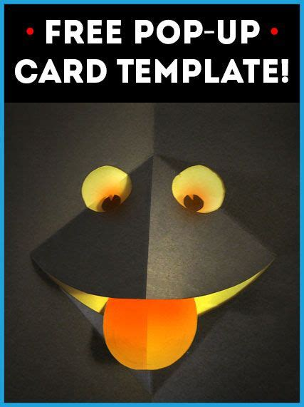 pop up card templates for 39 free pop up card template no 1 monsters template and