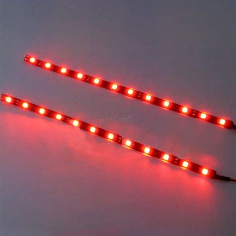 Bright Led Light Strips New Bright 2x 12 Leds 30cm 5050 Smd Led Light 12v Car Decor Ebay
