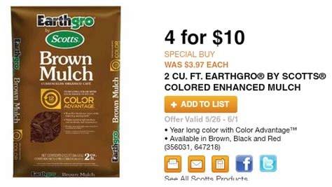 price match home depot earthgro brown mulch home depot price match saved 50 on