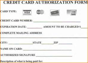 Authorization To Use Credit Card Template 15 Credit Card Authorization Form Template Free